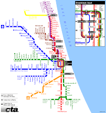 Map Of Chicago Illinois by Chicago Subway Map Travel Map Vacations Travelsfinders Com