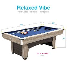 How Much Does A Pool Table Weigh Amazon Com Harvil Beachcomber Pool Table 84 Inches With Free