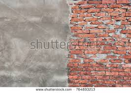 cracked red white brick wall urban stock photo 583713862