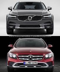 mercedes cross country volvo v90 cross country vs mercedes e class all terrain front