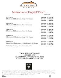 miramonte base pricing flagstaff ranch real estate