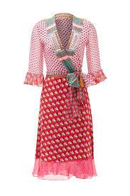 pink nieves wrap dress by diane von furstenberg for 100 rent