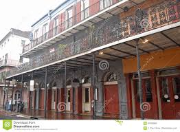 three story building in the french quarter stock photo image
