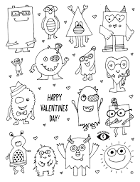free valentines coloring page printable eye power kids wear