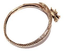 celtic dragon tail bronze bracelet
