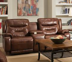southern motion power reclining sofa crescent double reclining sofa with console power headrest by