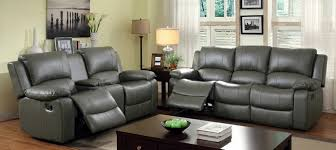 Gray Recliner Sofa Furniture Magician Gray Leather Reclining Sofa