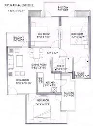panchsheel greens 1 new tower floor plan 2 3 bhk flats