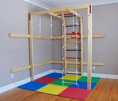 Ana White Diy Basement Indoor Playground With Monkey Bars Diy by Indoorjunglegym Diy Monkey Bars Indoor Playground Climbing Wall