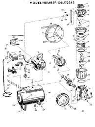 air compressor schematic sears craftsman 106 172342 air