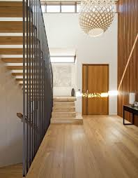 interior wooden stair railing and white wall paint color 22