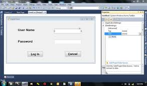 design web form in visual studio 2010 how to create login form in visual studio and connect with sql server