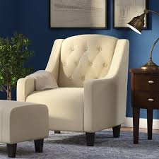 Fabric Armchairs And Ottomans Alcott Hill Bloomington Upholstered Armchair And Ottoman U0026 Reviews