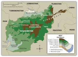 Asia Geography Map Central Asia And Afghanistan