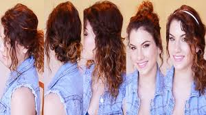 cute easy hairstyles to do with curly hair new hair style