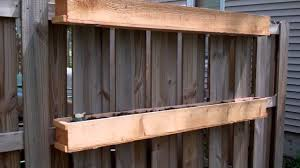 Garden Walls And Fences by Fence Mounted Garden Boxes Youtube