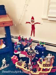 superheroes take action against elf on the shelf life without pink
