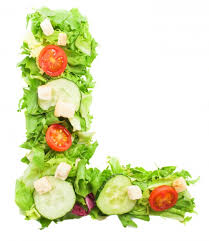 healthy letter l with vegetables photo free download