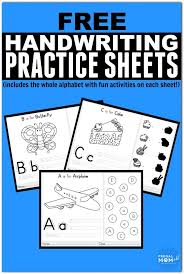 Abc Practice Worksheets For Kindergarten 111 Best Printable Handwriting Worksheets For Kids Images On