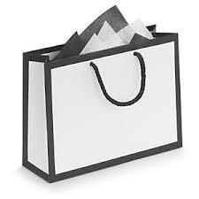 white gift bags black edge white laminated paper gift bags rajapack