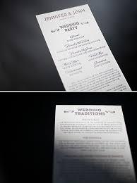 sided wedding programs sided true vintage letterpress wedding programs figura