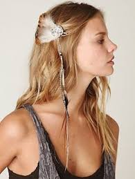 feather hair accessories gorgeous stacked metal triangle and feather hair clip made in