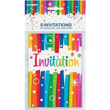 rainbow birthday party invitations 8 count walmart com