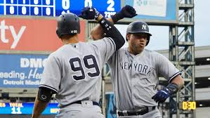 Aaron Judge Gary Sanchez Struggle In Game 1 Loss To Indians Newsday - yanks rally late claim al east lead with 9 6 win over red sox sny