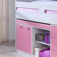 M El Schreibtisch Mädchenzimmer Hochbett Lihael In Rosa Weiß Wohnen De