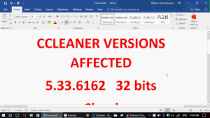 ccleaner malware version very important information ccleaner had malware injected youtube