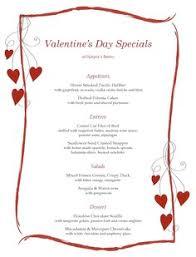 7 best images of valentine printable menu templates valentine