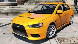 mitsubishi yellow mitsubishi lancer evo x gta5 mods com