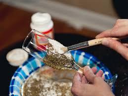 halloween wedding toasting glasses how to make glitter champagne flutes hgtv