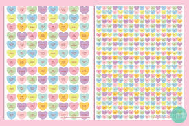 free printable candy heart gift wraps u0026 tags minted strawberry