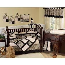 Safari Crib Bedding by Baby Nursery Cute Baby Room Decor Idea With Brown Wooden Crib And