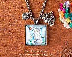 necklace making charms images Kitten pendant making kit square pendant tray charms and jpg