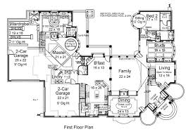 5 bedroom house plans floor plan around garage feet four porch mobile and kerala