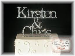 name cake topper groom custom name rhinestone wedding cake topper