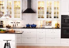 Kitchen Nook Set by Ikea Modern Kitchen Cabinets White Pendant Lamps White Cabinet