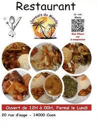 cuisine et saveur du monde saveurs du monde à caen carte menu et photos