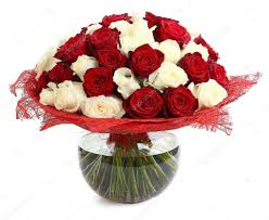 Multicolor Roses Floral Compositions Of Red And White Roses Large Bouquet Of Mixed