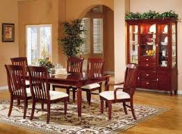 Cherry Dining Room Cherry Finish Casual Contemporary Dining Room W Chrome Accents
