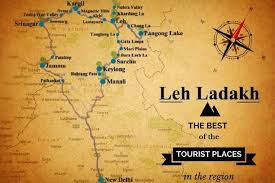 best tourist map of 8 tourist circuits of ladakh that you must not miss