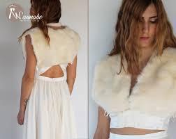 fur stole fur wedding shrug fur cape winter wedding shrug