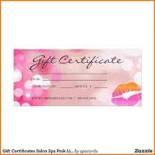 salon gift card salon certificate template badi deanj