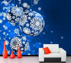 christmas murals for walls home design ideas christmas mural home design ideas custom mural holidays christmas colored balls snowflakes restaurant bar living room