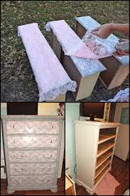 How To Paint Old Furniture by Best 25 Lace Painted Furniture Ideas On Pinterest Lace Painting
