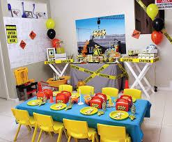Construction Party Centerpieces by Fantastic Construction Themed Birthday Party Themed Birthday