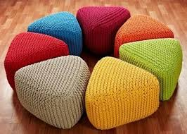 Knitted Ottoman Cotton Rope Pouf Indian Knitted Ottoman Buy Knitted Pouf Knitted
