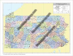 County Map Of Pennsylvania Stockmapagency Com Maps Of Pennsylvania Offered In Poster Print
